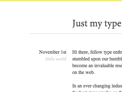 Just my type | A first look typography type css baseline minion pro