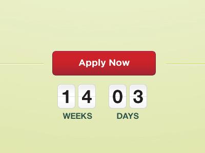 Countdown countdown button timer calendar