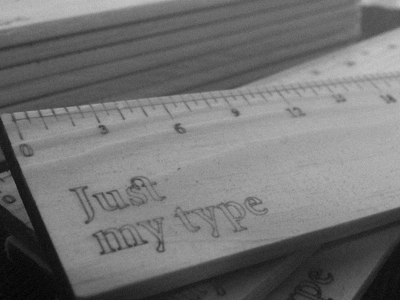 Just My Type - Typography Pica Ruler typography type css baseline minion pro web ruler wood handmade handcrafted typography typekit
