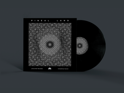Pineal Land pleuratbytyqi cover label psytrance cd psychedelic lotusfeet vinyl land pineal