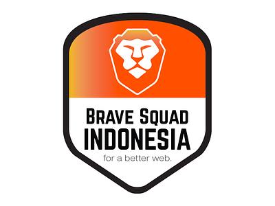 IndoBrave - Brave Squad Indonesia madebyvk badge indonesia brave squad brave browser bebrave indobrave