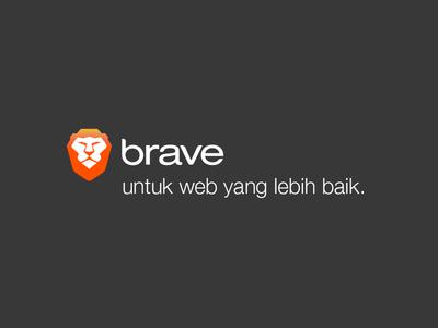 Brave untuk web yang lebih baik.