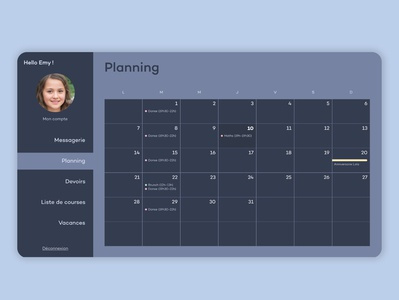 Family Planner for computer planning planner calendar ui calendar family ux product account app dailyui web ui design