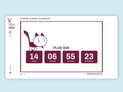 Countdown Timer Festival d'Angoulême festival timer countdown logo typography illustration branding dailyui web ui design