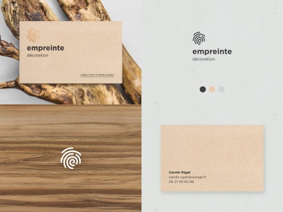 Empreinte gold foil gold finger business card identity branding fingerprint