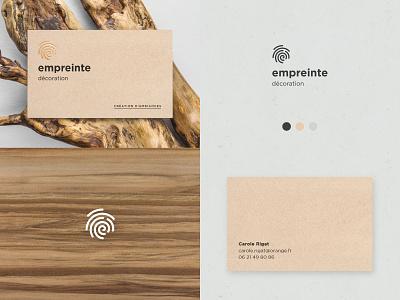 Empreinte gold foil gold finger business card identity branding fingerprint