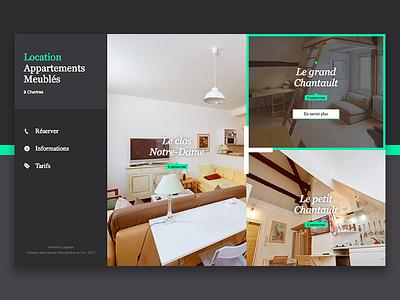 Premium Apartment Renting Website webdesign