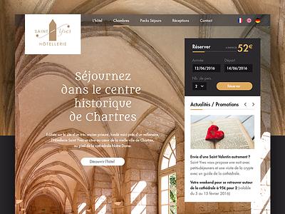 Saint Yves Hotel webdesign