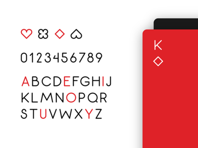 Minimalist Playing Card font typography game deck card playing