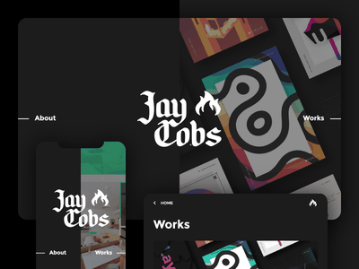Jay Cobs - Back to Black new UI adobexd iphonex responsive design graphic logo webdesign jaycobs black ux ui