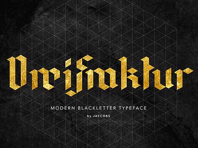 DreiFraktur | FREE Modern Blackletter Typeface black gold dark free fraktur gothic blackletter font typeface dreifraktur