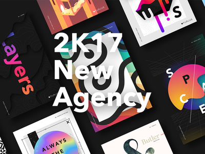 2K17 New Agency 2017 design graphic purjus series poster agency new