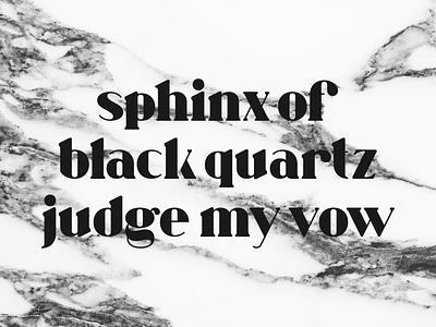 numero 10 - wip black serif type glyphs typography font