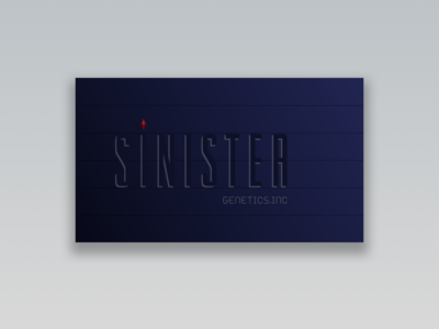 Sinister Business Card