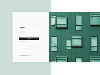 Sign In Screen for Real Estate Platform