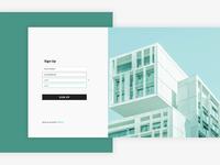 Sign Up Screen for Real Estate Platform