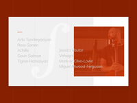Album Section Concept for Artyom Manukyan's Personal Website