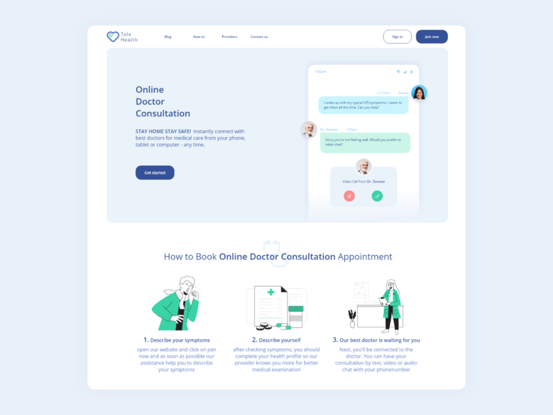Online Doctor doctor appointment medical hospital doctors doctor app doctor vector design web illustration blue app white logo uiux ui