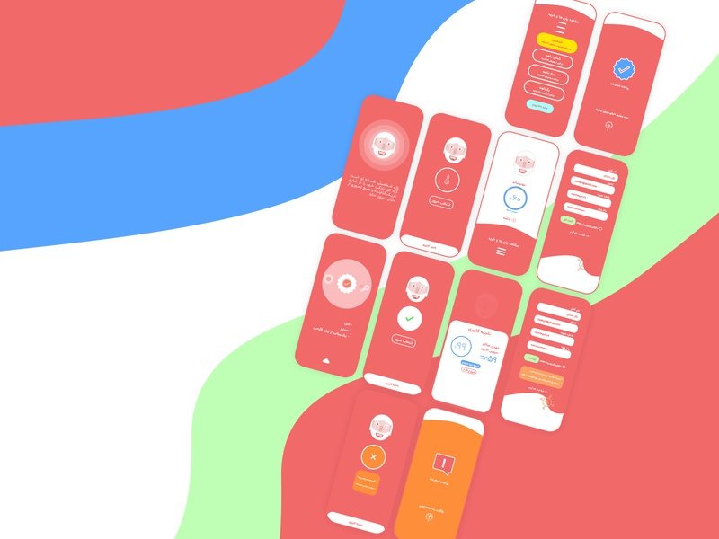 VPN app ui uiux زال zaul app design application ui application ios android app vpn