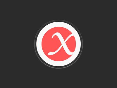 X logo brand identity design typography logo
