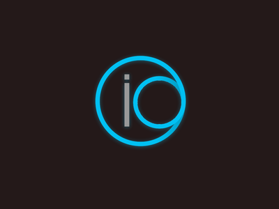 Logo for the IO project logotype branding brand identity minimal logo