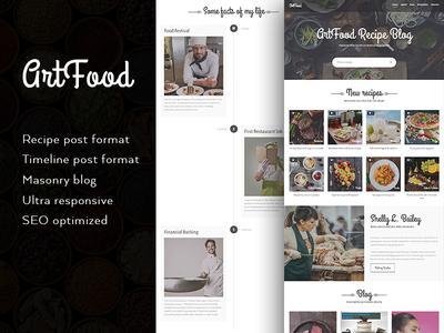 ArtFood - A Food Recipe WordPress Theme