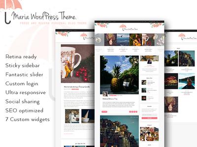 Maria A Personal Free WordPress Blog Theme