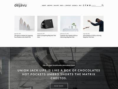 DejaVu - Minimal HTML Blogging Template