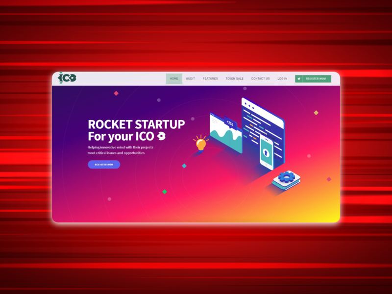 ICO landing page ico startup landing page web ui