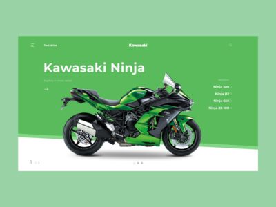 Kawasaki product page branding app ux productpage uxdesign ui design ui ecommerce