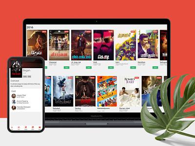 Online Movie Portal application web app design ux ui adobe photoshop