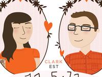 Lovebirds Bio Illustration