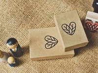 Lovebirds Feather Heart Stamp