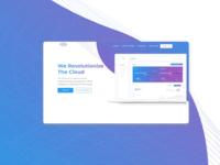 Blockchain product landing page