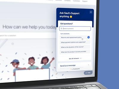 🎉 Launching the help widget proactive chatui message helpdesk widget help support chat