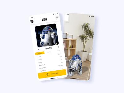 Star Wars App (AR) mar vr ar augmented reality r2d2 bad batch clone wars jedi star wars android app design appdesign uiux
