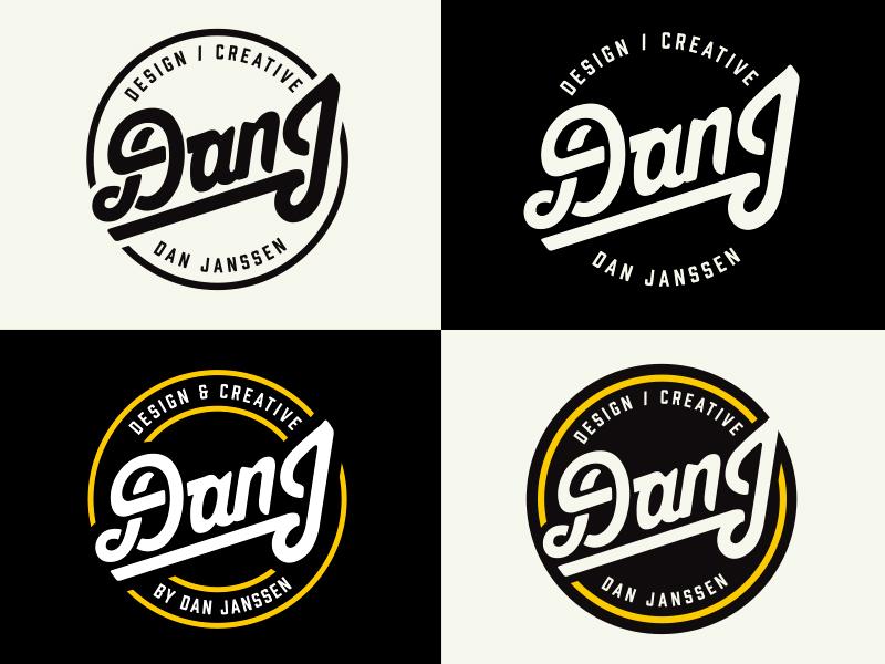 DanJ personal branding exploration circle crest badge