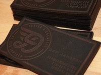 Personal leather business cards