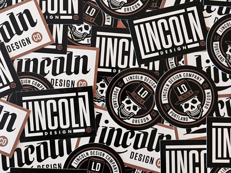 LINCOLN Design Co. branding logo type design studio agency black square