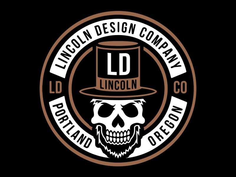 LINCOLN Design Co. branding logo type design studio agency black square