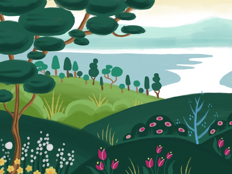 Sensory Mural Concept 1 sensory mural children illustration children book children art digital art digital nature illustration drawing illustration
