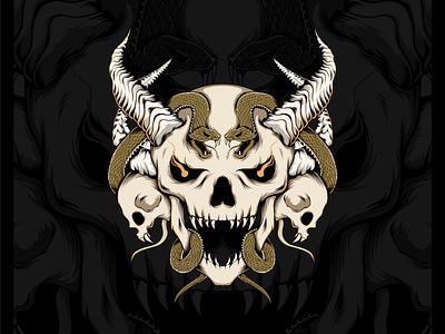 Skull Snake illustrator snake skull and crossbones skull art vector illustration illustration art cover art cover design cover artwork vector design illustration