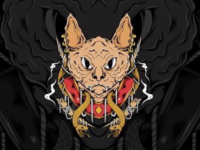 Spinx vector illustration vectorart adobe illustrator cover art logo cats cat spink artwork vector design illustration