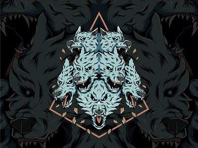 Wolfpack batik vector vector illustration logo branding cover art cover design artwork vector design illustration