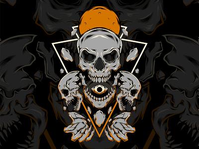 Revenge skull logo cover cover art vector illustration cover design artwork vector design illustration