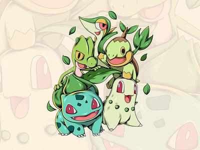 grass pokemon fanart pokemon art pokemon go pokemon vector illustration artwork vector design illustration