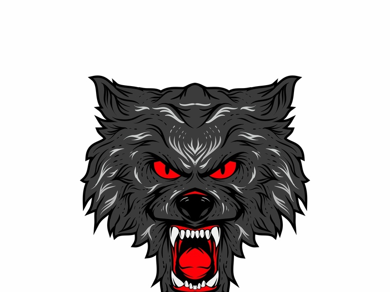 Wolf cover design cover logo artwork vector design illustration