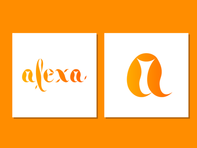 Letering alexa logo logodesign graphicdesign icon graphic design artwork vectorart vector illustration creative design