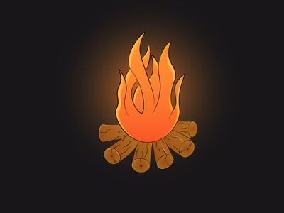 Fire icon graphic design digital painting digitalart artwork vectorart vector illustration design creative