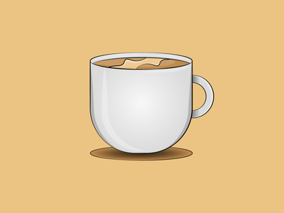 Coffee icon graphic design digital painting digitalart artwork vectorart vector illustration design creative